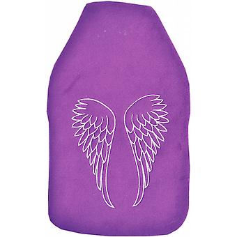 Cuddlesoft Embroidered 2L Hot Water Bottle: Angel Wings