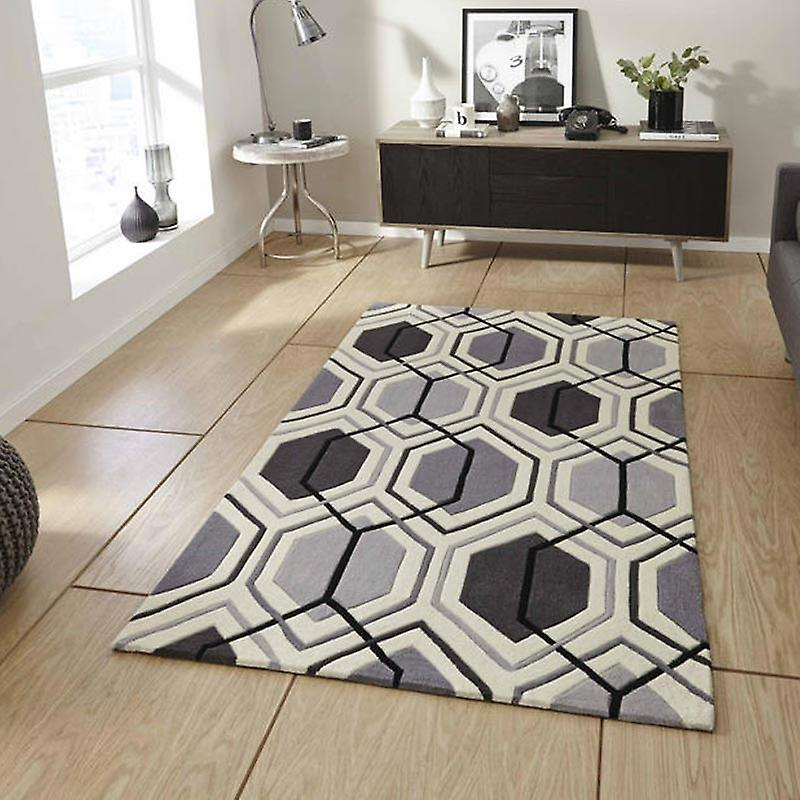 Rugs - Hong Kong Hexagon - HK7526 Grey