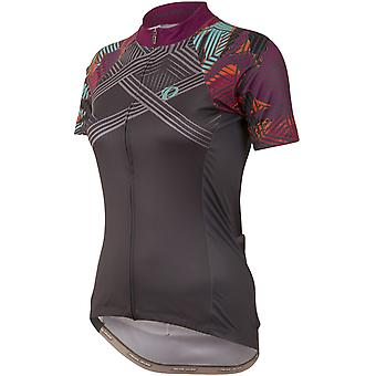 Pearl Izumi Floral Shadow Grey Elite Pursuit LTD Womens Short Sleeved Cycling Je