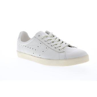 Gola Tourist Leather  Mens White Retro Lace Up Low Top Sneakers Shoes