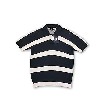 Strellson Swiss Cross short sleeved polo navy/white stripe