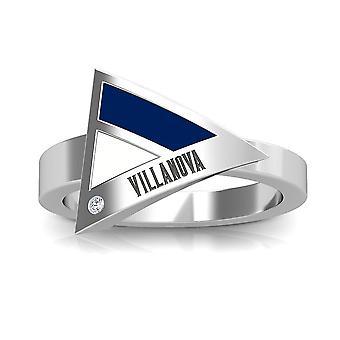 Villanova University-Villanova indgraveret diamant geometrisk ring i mørkeblå og hvid