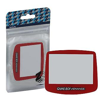 Replacement screen lens plastic cover for nintendo game boy advance - red