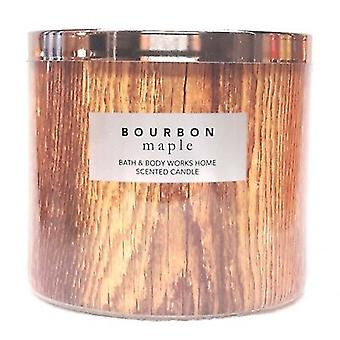 Bath & Body Works Bourbon Home Maple Scented Candle 14.5 oz / 411 g
