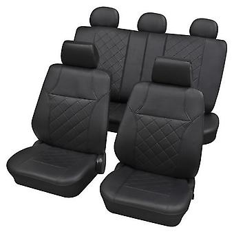 Black Leatherette Luxury Car Seat Cover set For Bmw 3 Touring 2005-2018