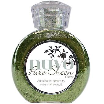 Nuvo Pure Sheen Glitter 3.38oz-Olive Green NPSG-701