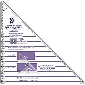 Diagonal Set Triangle Ruler 8968M