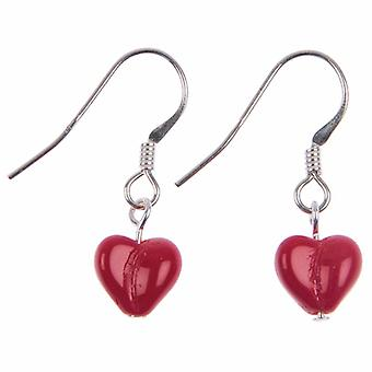 Carrie Elspeth Red Kisses Heart Drop Earrings