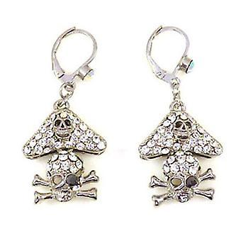 Butler & Wilson Crystal pirat kranium dråbe øreringe