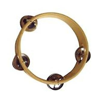 Reig Wood Tambourine 15 cm diameter and 5 Saucers