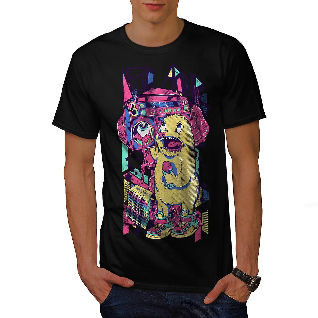 Furry Animal Alien Comic Sound Männer T-shirt schwarz | Wellcoda
