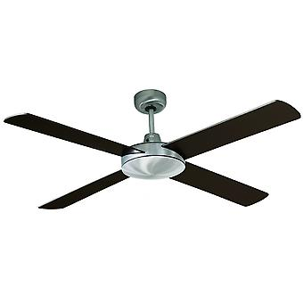 Ceiling Fan Futura brushed chrome / wenge 132 cm / 52
