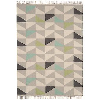 Hackney Kelims Geo Aqua  Rectangle Rugs Modern Rugs