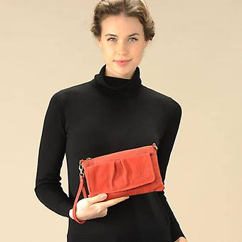 dR Amsterdam Schoudertas / Clutch Olive Red