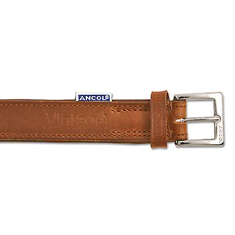 Heritage Vintage Leather Padded Collar Chestnut 28-36cm Sz 3