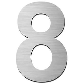 Serafini house number 8 stainless steel V4A self-adhesive height 15 cm