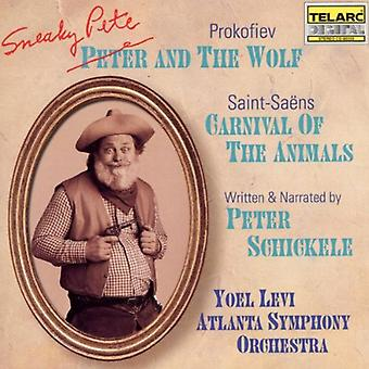 Prokofiev/Saint-Saens - Peter Schickele: Sneaky Pete and the Wolf; Camille Saint-Sa Ns: Carnival of the Animals [CD] USA import