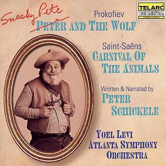Prokofiev/Saint-Saens-Peter Schickele: Pete disimulado y el lobo; Camille Saint-Sa Ns: Carnaval de los animales [CD] USA importar
