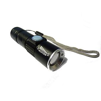 TRIXES USB Rechargeable Ultra Bright LED Torch with Beam Focusing Zoom