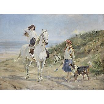 Heywood Hardy - Holiday time Poster Print Giclee