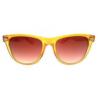 W.A.T Oversized Orange Translucent Jelly Retro Wayfarer Style Sunglasses