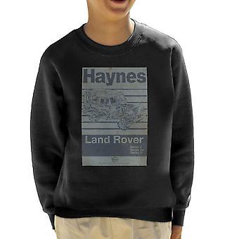 Haynes Workshop Manual Land Rover Streifen Kinder Sweatshirt