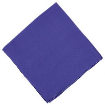 Michelsons of London Plain Silk Handkerchief - Purple