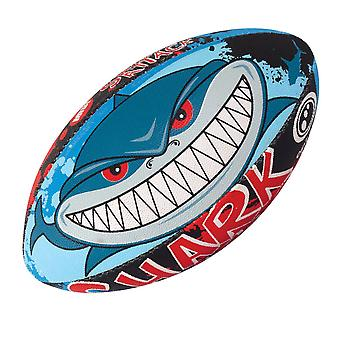 OPTIMUM shark attack rugby ball (size 5)