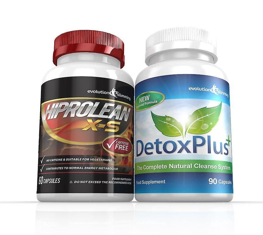 Hiprolean X-S Caffeine Free Fat Burner Cleanse Combo Pack - 1 Month Supply - Fat Burner and Colon Cleanse - Evolution Slimming