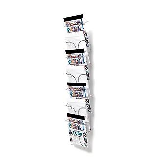 7 Pocket A4 Wire Brochure Holder - Wall Mounted