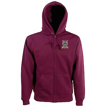 The Royal Scots Dragoon Guards Embroidered Logo - Official British Army Zipped Hoodie Jacket