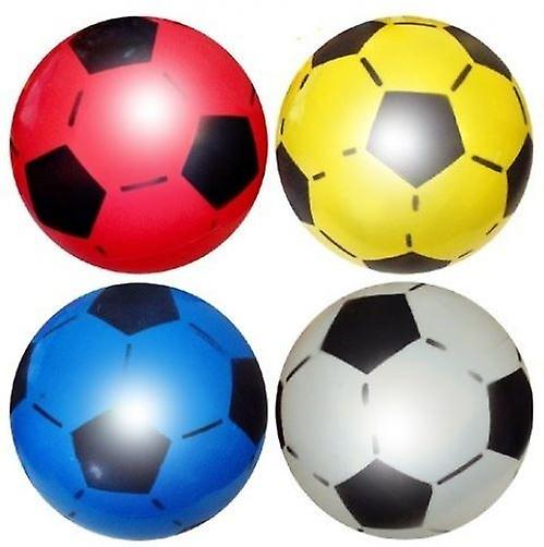 10 Uninflated Plastic Footballs 22.5cm - R38 088