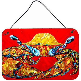 Crab Fat and Sassy Aluminium Metal Wall or Door Hanging Prints