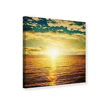 Canvas Print Photo Wallaper Sunset On The Sea Horizon