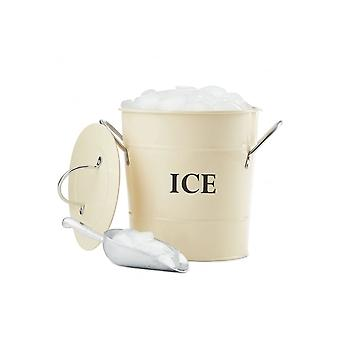 Andrew James Vintage Ice Bucket With Lid And Serving Scoop, 3 Litre Capacity