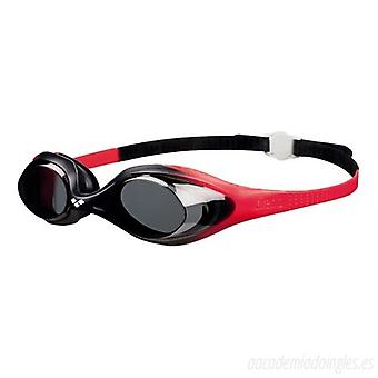 Arena Spider Junior Swim Goggle - Smoke Lens - Red/Black