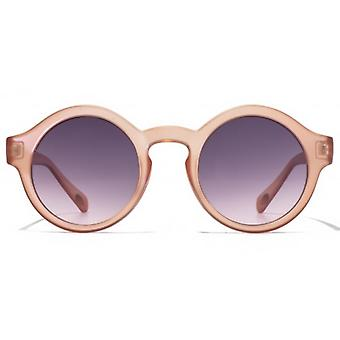 American Freshman Fashion Round Sunglasses In Matte Crystal Pink