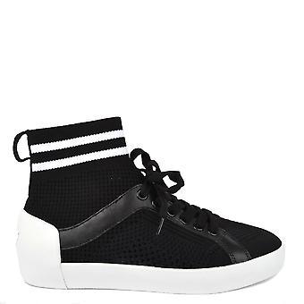 Ash Footwear Ninja Black & White Knit Trainer