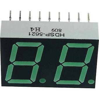 Seven-segment display Green 14.22 mm 2.1 V No. of digits: 2