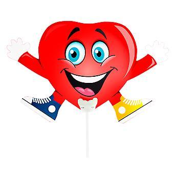 Folienballon mit Stab Herz Herzmännchen