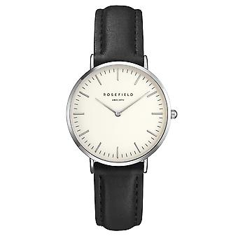 Rosefield The Tribeca White-Black-Silver Ladies Watch
