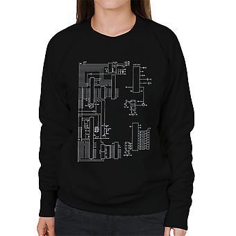 Nintendo Computer Schematic Women's Sweatshirt