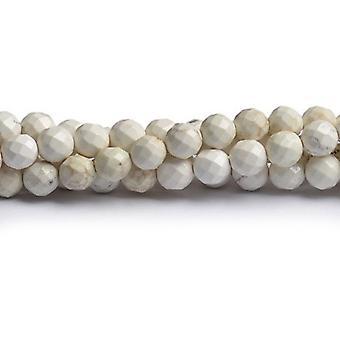 Strand biały magnezytu 40 + 8mm szlifowane koraliki okrągłe CB49410-3
