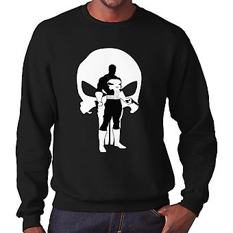 Der Punisher Comic Book Anzug Silhouette Herren Sweatshirt
