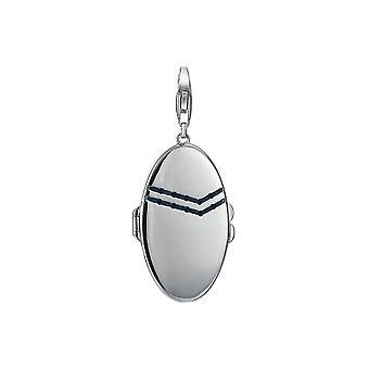 ESPRIT pendant of charms silver denim Medallion ESCH91121A000