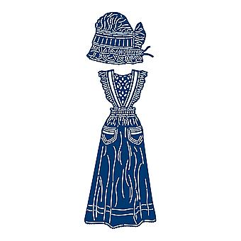 Tattered Lace Ruffled Apron & Cap Die