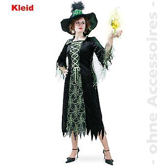 Ведьма костюм дамы зеленый ведьма волшебницы сказка существ леди костюм