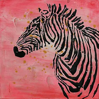 OIL PAINTING ZEBRA MOTIF MURAL MURAL IMAGE IMAGES LIVING ROOM PICTURE