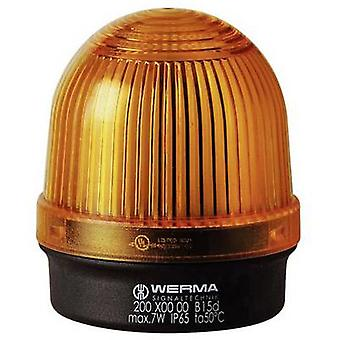 Light Werma Signaltechnik 200.300.00 Yellow Non-stop light signal 12 V AC, 12 Vdc, 24 V AC, 24 Vdc, 48 V AC, 48 Vdc, 110 V AC, 230 V AC