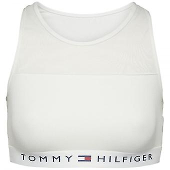 Tommy Hilfiger Women Sheer Flex Cotton Bralette, White, Small